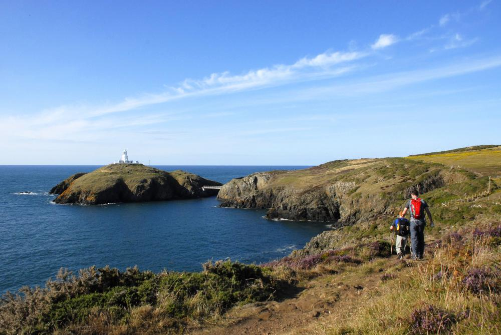 Stunning Views Seabirds And Saints Stones On A Walk From
