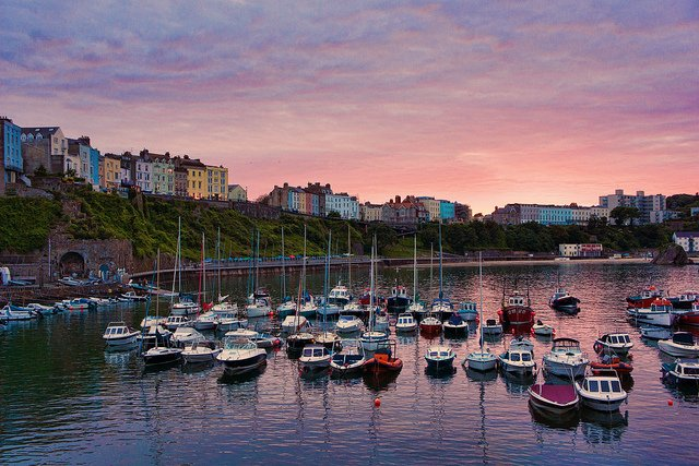 The beautiful harbour close to our tenby holiday cottages